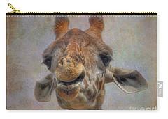 Carry-all Pouch featuring the photograph Giraffe by Savannah Gibbs