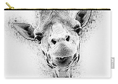 Carry-all Pouch featuring the digital art Giraffe by Taylan Apukovska