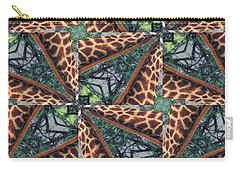 Giraffe Through The Window Carry-all Pouch by Maria Watt