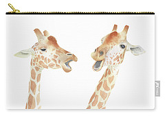 Carry-all Pouch featuring the painting Giraffe Watercolor by Taylan Apukovska
