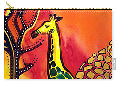 Giraffe With Fire  Carry-all Pouch by Dora Hathazi Mendes