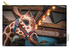 Carry-all Pouch featuring the photograph Giraffecarousel by Lisa L Silva