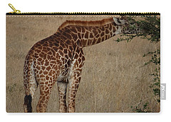 Giraffes Eating - Side View Carry-all Pouch by Exploramum Exploramum