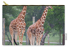 Giraffes In The Rain Carry-all Pouch