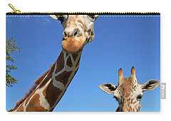 Giraffes Carry-all Pouch by Steven Sparks