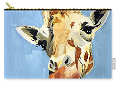 Carry-all Pouch featuring the painting Girard Giraffe by Tom Riggs