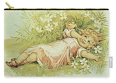 Girl And Chick Carry-all Pouch