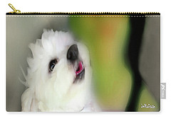 Girl And Puppy Painting 3 Carry-all Pouch