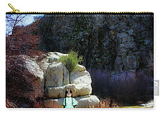 Girl At Piru Creek Carry-all Pouch by Timothy Bulone