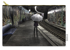 Girl At Subway Station Carry-all Pouch by Joana Kruse