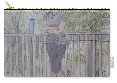Girl At The Mountain Top Carry-all Pouch