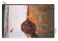 Carry-all Pouch featuring the painting Girl At The Window by Winsome Gunning