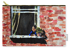 Girl At Window Carry-all Pouch