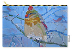 Carry-all Pouch featuring the painting Girl Cardinal by Francine Frank