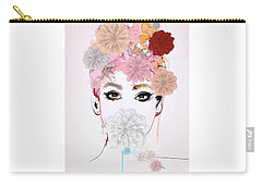 Girl Flower Power Carry-all Pouch by Gallery Messina