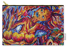 Girl Harvesting Food Under Chemtrail Sky Carry-all Pouch by Dianne  Connolly