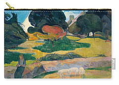 Girl Herding Pigs Carry-all Pouch by Paul Gauguin
