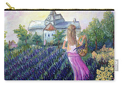 Girl In A Lavender Field  Carry-all Pouch
