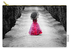 Girl In A Red Dress Carry-all Pouch by Helen Northcott