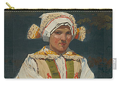 Girl In Costume, Antos Frolka, 1910 Carry-all Pouch