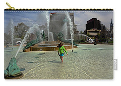 Girl In Fountain Carry-all Pouch