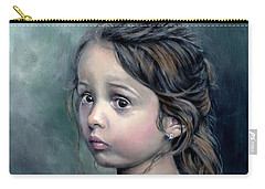 Carry-all Pouch featuring the painting Girl In Lace by John Neeve
