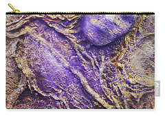 Carry-all Pouch featuring the mixed media Girl In Purple by Angela Stout