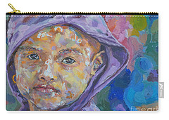Burma Girl In Purple Carry-all Pouch