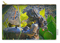 Carry-all Pouch featuring the photograph Girl In The Garden by Lori Seaman