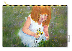 Girl In The Meadow Carry-all Pouch