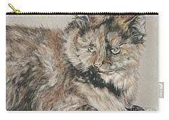 Carry-all Pouch featuring the drawing Girl  by Meagan  Visser