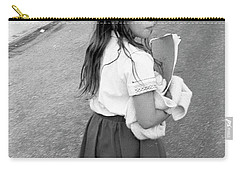 Girl Returns Home From School, 1971 Carry-all Pouch