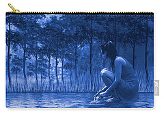 Girl Washing At The River Carry-all Pouch by Diane Schuster