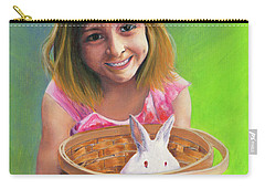 Girl With A Bunny Carry-all Pouch