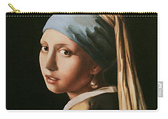 Girl With A Pearl Earring - After Vermeer Carry-all Pouch