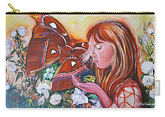 Girl With Butterflies Carry-all Pouch
