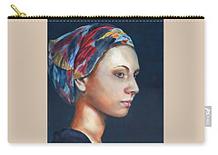 Girl With Headscarf Carry-all Pouch