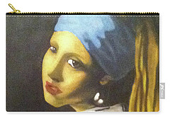 Carry-all Pouch featuring the painting Girl With Pearl Earring by Jayvon Thomas