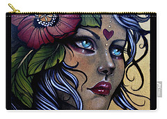 Girl With Poppy Flower Carry-all Pouch