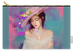 Girl With The Floral Hat Carry-all Pouch