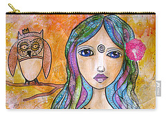 Girl With The Owl  Carry-all Pouch