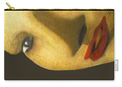 Carry-all Pouch featuring the painting Girl With The Pearl Earring Close Up by Jayvon Thomas
