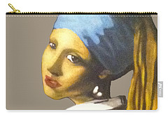 Carry-all Pouch featuring the painting Girl With The Pearl Earring No Background by Jayvon Thomas