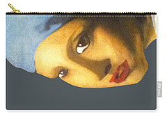 Carry-all Pouch featuring the painting Girl With The Pearl Earring Side by Jayvon Thomas