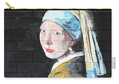 Girl With The Pearl Earring Carry-all Pouch by Stan Tenney