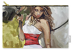 Girl With White Horse Carry-all Pouch