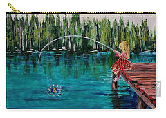 Girls Can Fish Carry-all Pouch by Mike Caitham