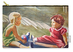Girls Playing Ball  Carry-all Pouch