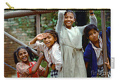 Girls Smiling In Kathmandu, Nepal Carry-all Pouch