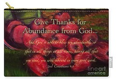 Give Thanks For Abundance From God Carry-all Pouch